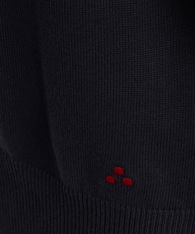 Peuterey - Saldi - maglia in cotone tricot blu 1