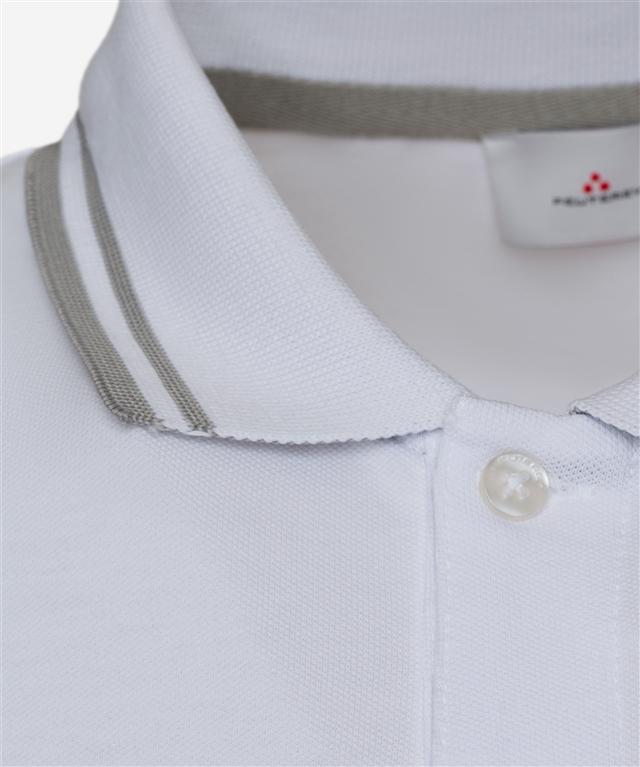 Peuterey - Saldi - polo in cotone stretch bianca 1