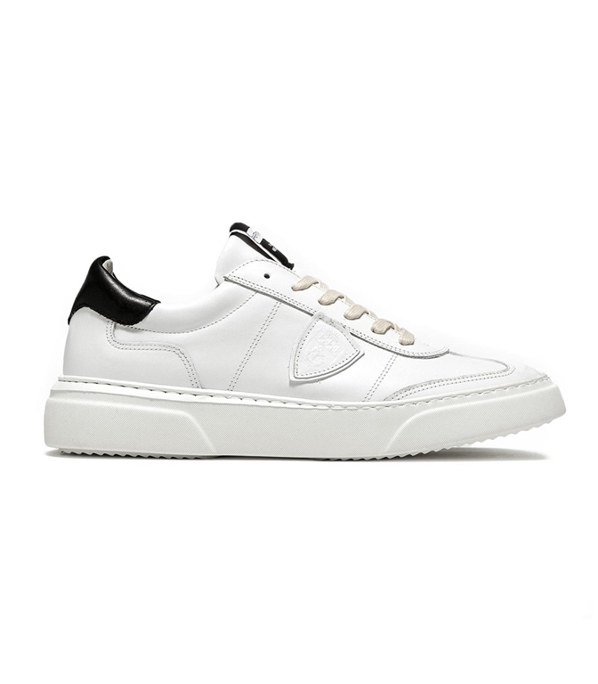 Philippe Model - Scarpe - Sneakers - SNEAKER IN PELLE TEMPLE BLANC/NOIR