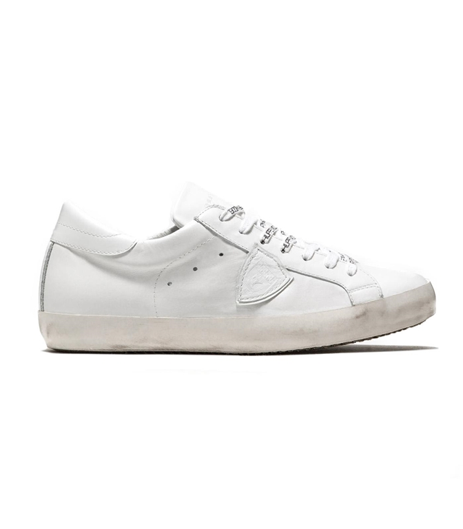 Philippe Model - Scarpe - Sneakers - SNEAKER IN PELLE PARIS BLANC