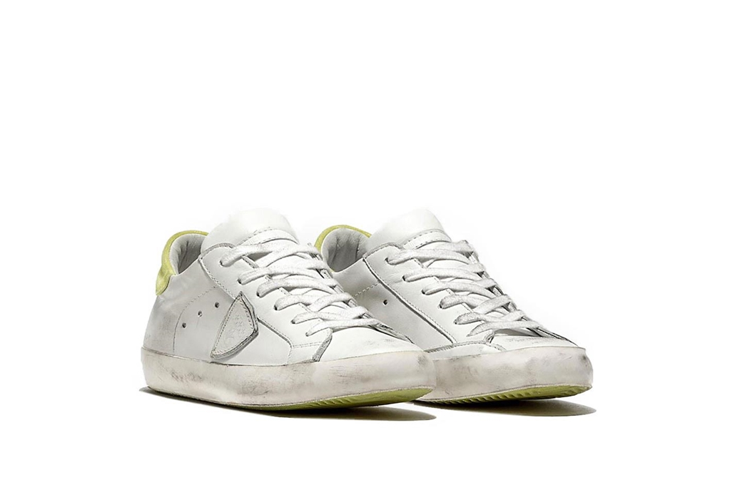 Philippe Model - Scarpe - Sneakers - sneaker in pelle paris blanc/jaune 1