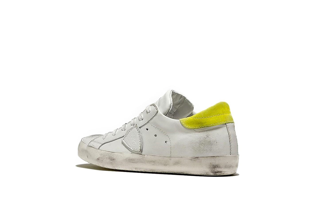 Philippe Model - Scarpe - Sneakers - sneaker in pelle paris blanc/jaune 2
