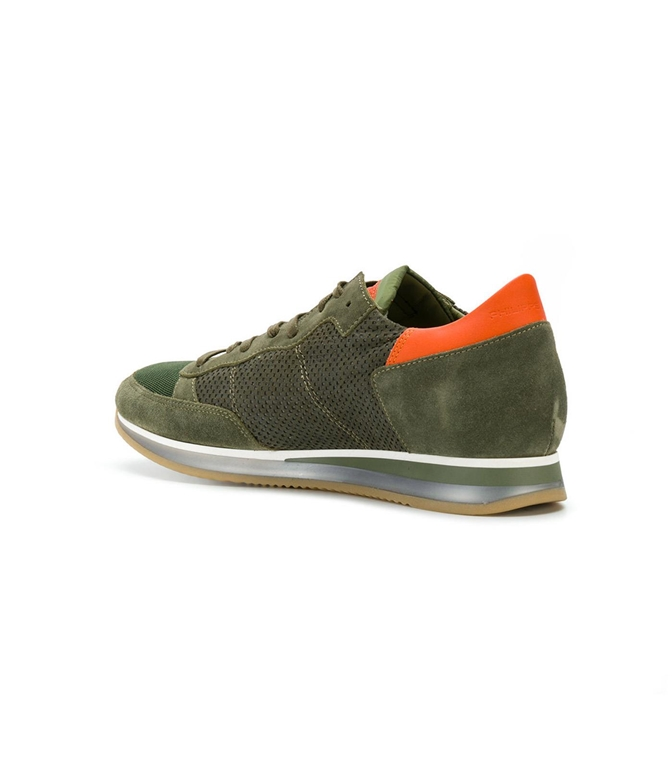 Philippe Model - Saldi - sneaker in suede tropez perfore' vert 1