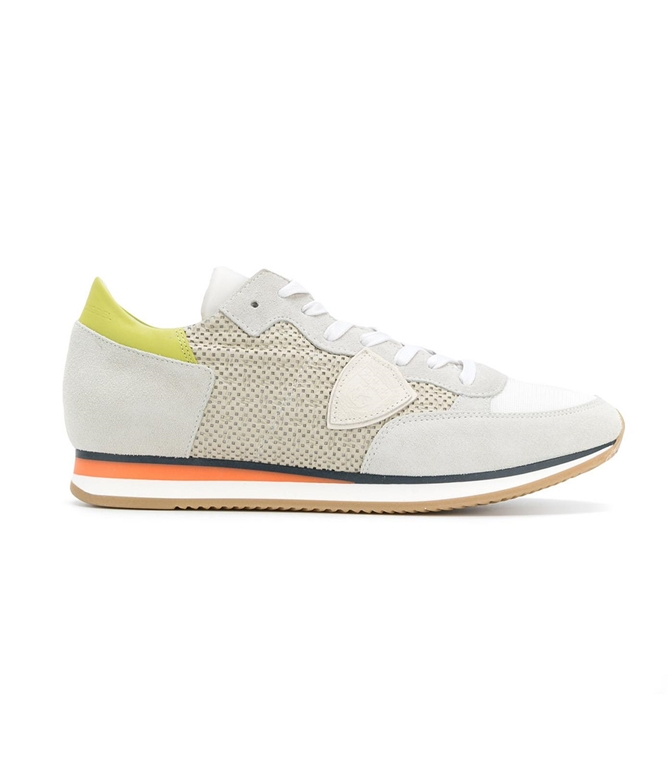 Philippe Model - Saldi - sneaker in suede tropez perfore' blanc