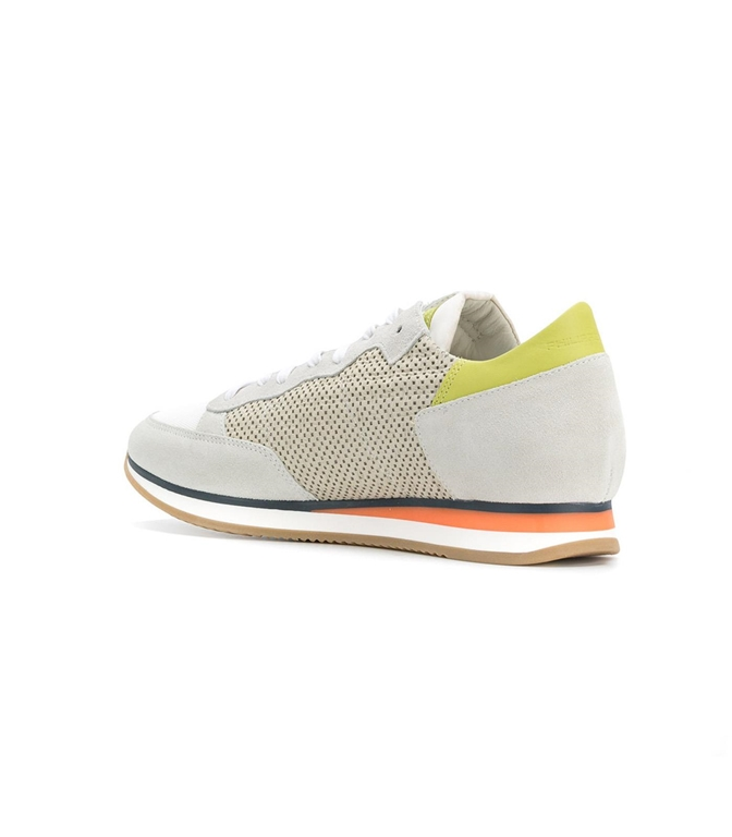 Philippe Model - Saldi - sneaker in suede tropez perfore' blanc 1