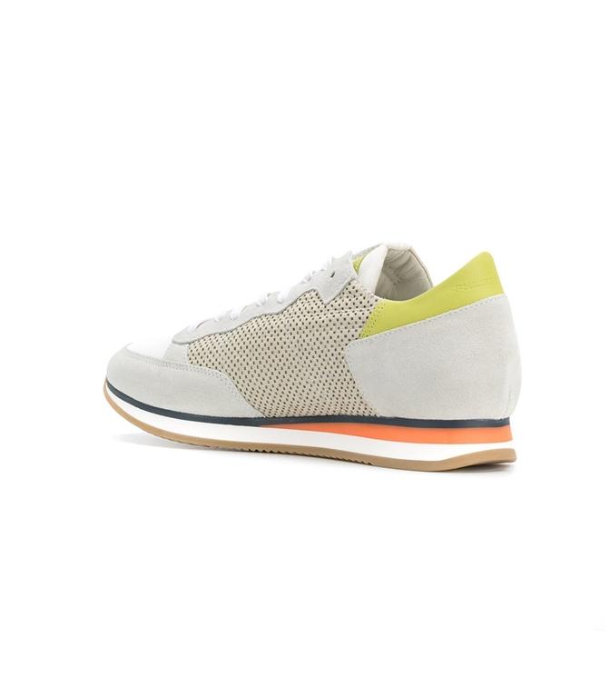 Philippe Model - Saldi - sneaker in suede tropez perfore' blanc 1