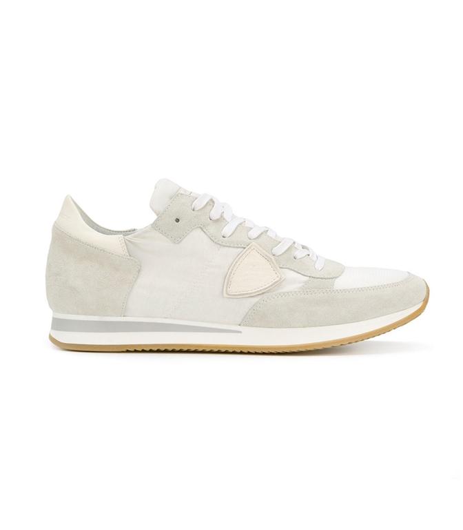 Philippe Model - Scarpe - Sneakers - SNEAKER IN SUEDE TROPEZ MONDIAL BLANC