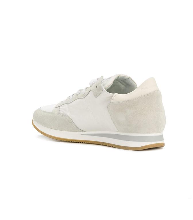 Philippe Model - Scarpe - Sneakers - sneaker in suede tropez mondial blanc 1