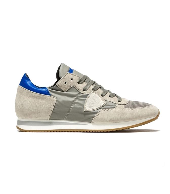 Philippe Model - Scarpe - Sneakers - SNEAKER IN SUEDE TROPEZ MONDIAL GRIS/BLUETTE