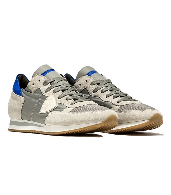 Philippe Model - Scarpe - Sneakers - sneaker in suede tropez mondial gris/bluette 1