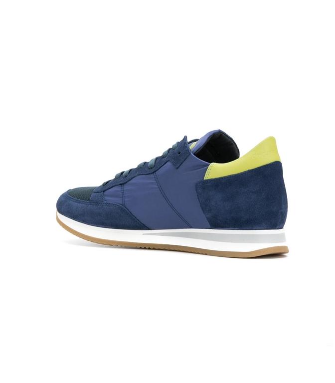 Philippe Model - Scarpe - Sneakers - sneaker in suede tropez mondial bleu/citron 1