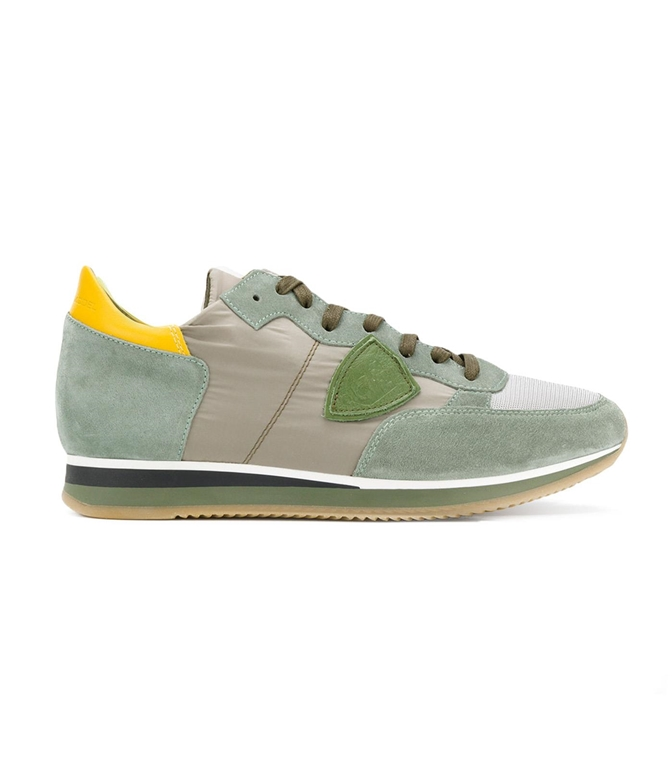 Philippe Model - Scarpe - Sneakers - SNEAKER IN SUEDE TROPEZ MONDIAL MUD/VERT