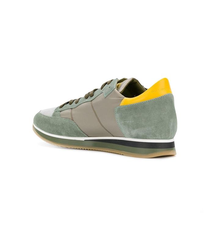 Philippe Model - Scarpe - Sneakers - sneaker in suede tropez mondial mud/vert 1