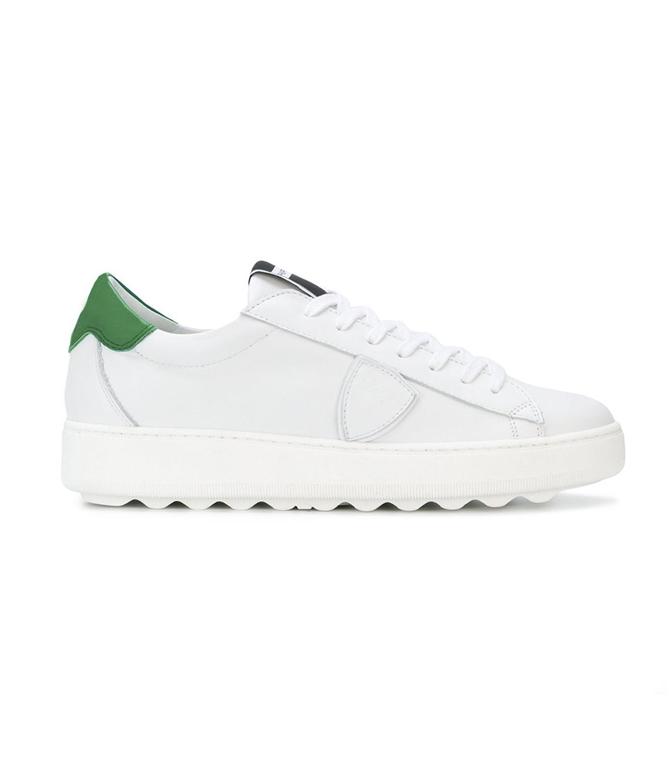 Philippe Model - Scarpe - Sneakers - SNEAKER IN PELLE MADELEINE BLANC/VERT