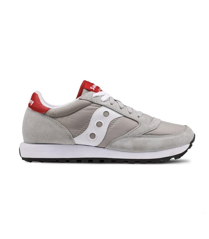 Saucony - Saldi - sneakers jazz o' grey/white/red