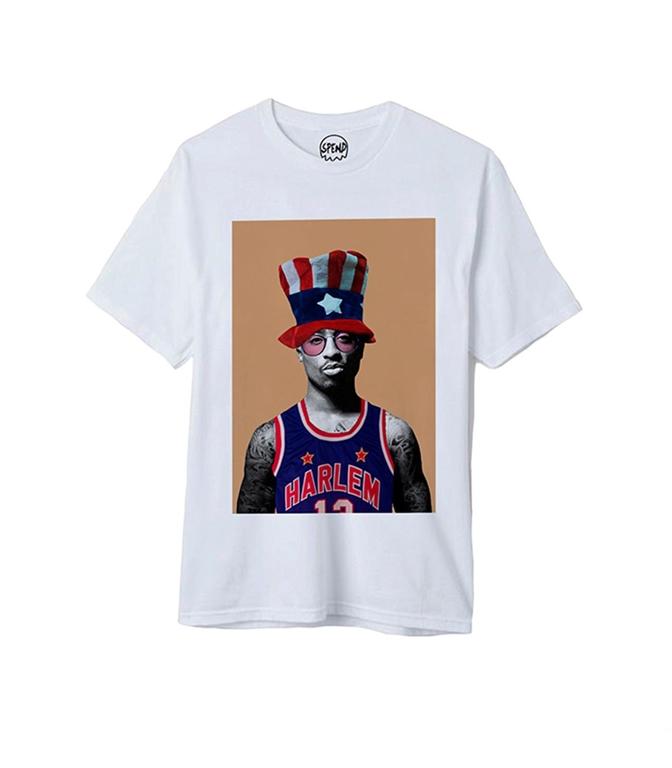 Spend - T-Shirt - tupac white