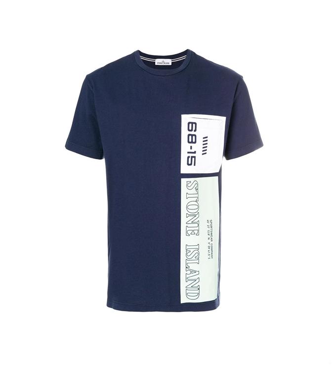 Stone Island - T-Shirt - T-SHIRT GRAPHIC NINE INCHIOSTRO