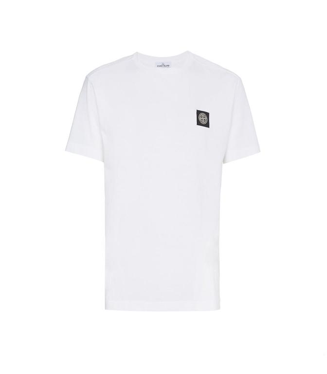 Stone Island - T-Shirt - T-SHIRT COTONE BIANCA