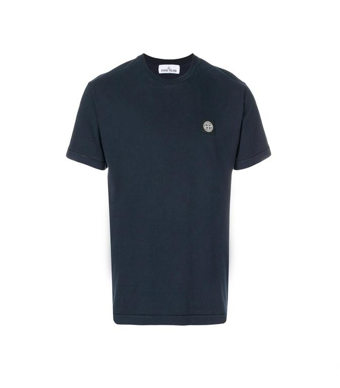 Stone Island - T-Shirt - T-SHIRT COTONE BLU