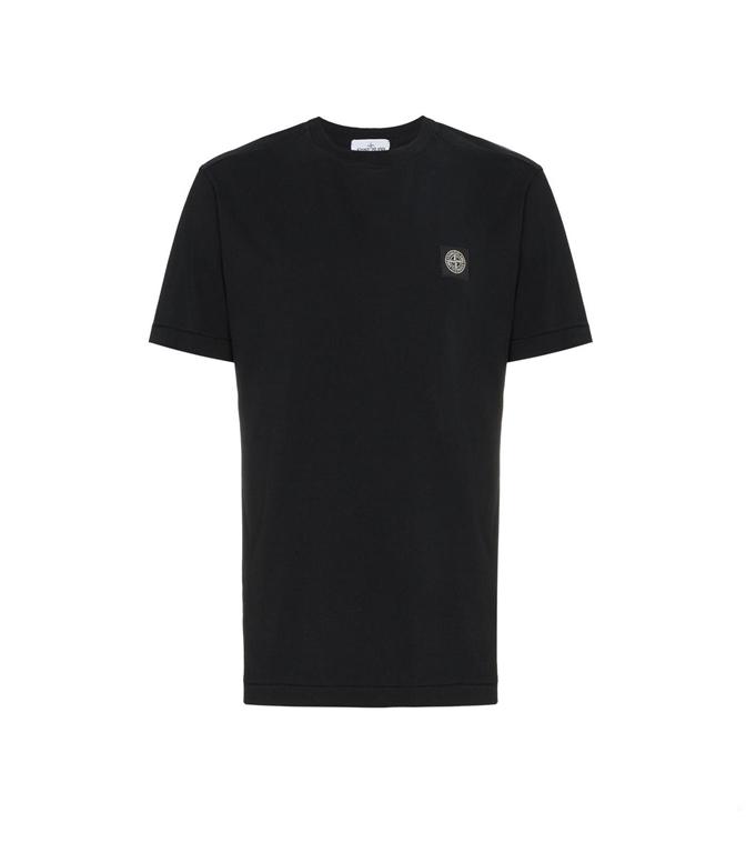 Stone Island - T-Shirt - T-SHIRT COTONE NERA
