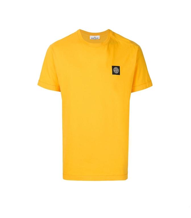 Stone Island - T-Shirt - T-SHIRT COTONE GIALLA