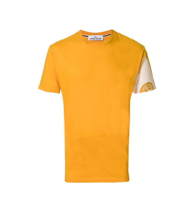 Stone Island - T-Shirt - t-shirt graphic five folded gialla