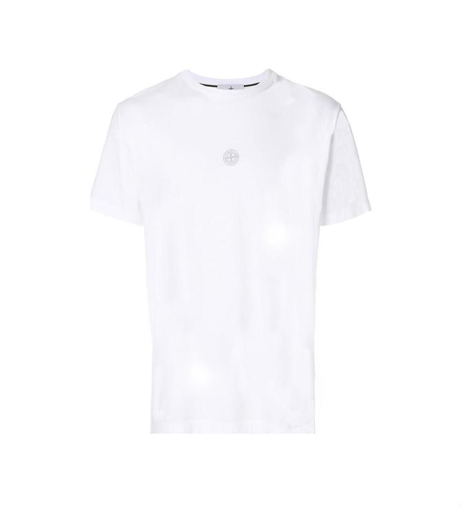 Stone Island - T-Shirt - t-shirt graphic eight bianca