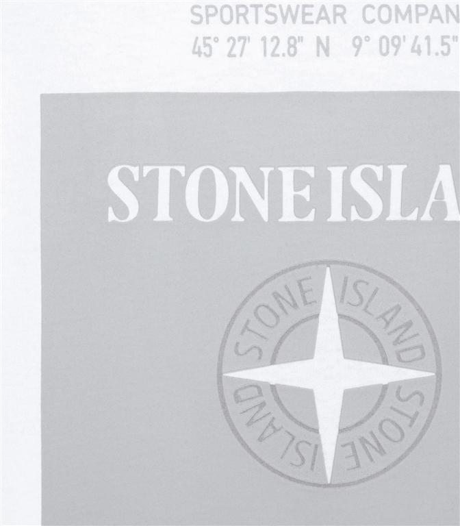 Stone Island - T-Shirt - t-shirt graphic eight bianca 1