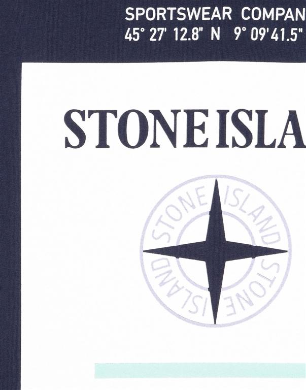 Stone Island - T-Shirt - t-shirt graphic eight inchiostro 1