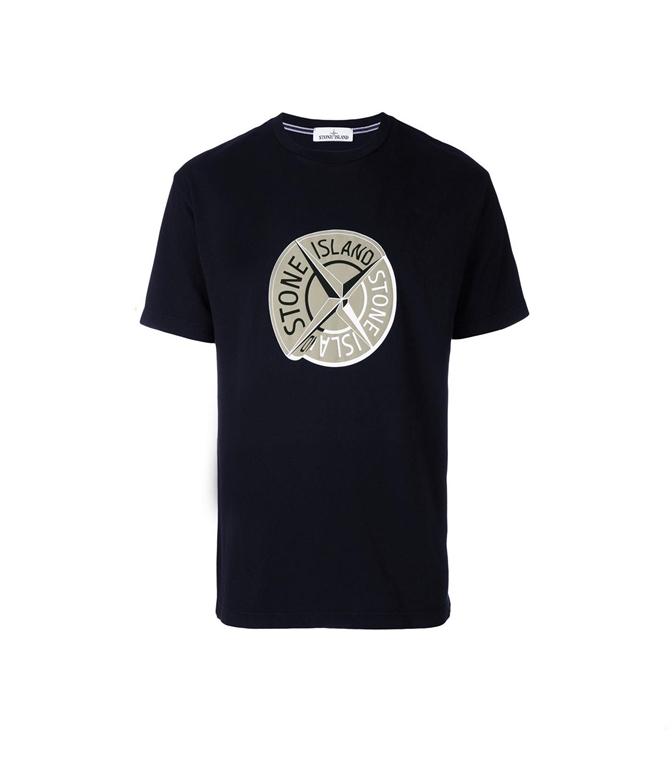 Stone Island - T-Shirt - t-shirt graphic ten blu