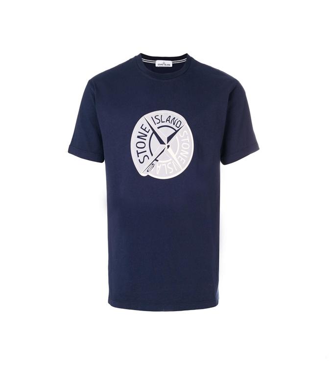 Stone Island - T-Shirt - T-SHIRT GRAPHIC TEN INCHIOSTRO