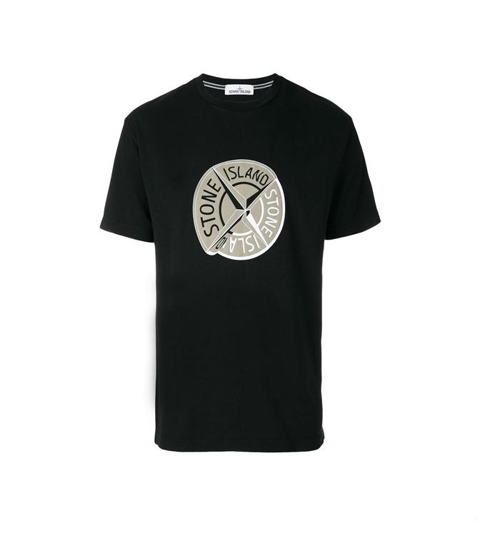 Stone Island - T-Shirt - t-shirt graphic ten nera