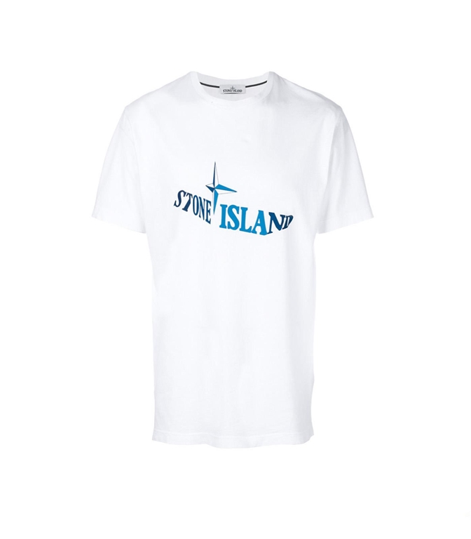 Stone Island - T-Shirt - t-shirt graphic twelve bianca