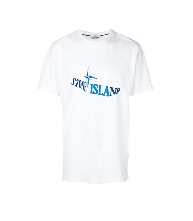 Stone Island - T-Shirt - T-SHIRT GRAPHIC TWELVE BIANCA