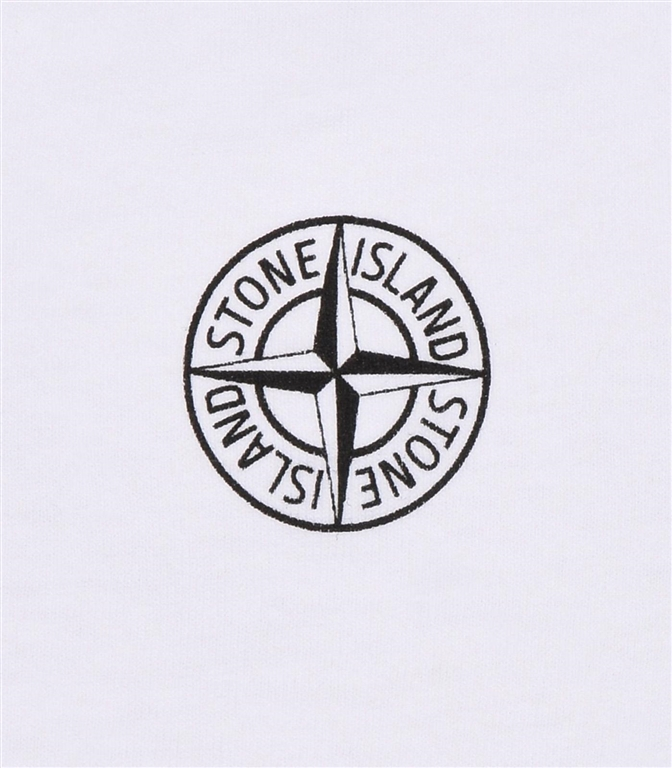 Stone Island - T-Shirt - t-shirt graphic twelve bianca 1
