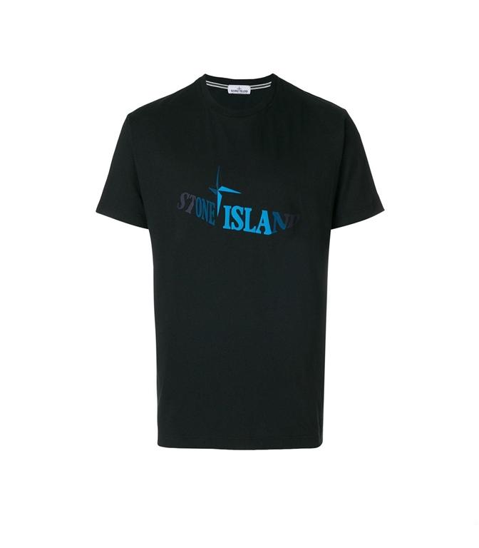Stone Island - T-Shirt - T-SHIRT GRAPHIC TWELVE NERA