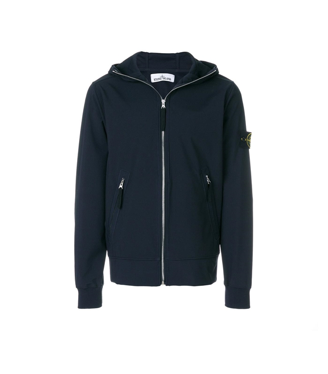 Stone Island - Giubbotti - LIGHT SOFT SHELL-R BLU