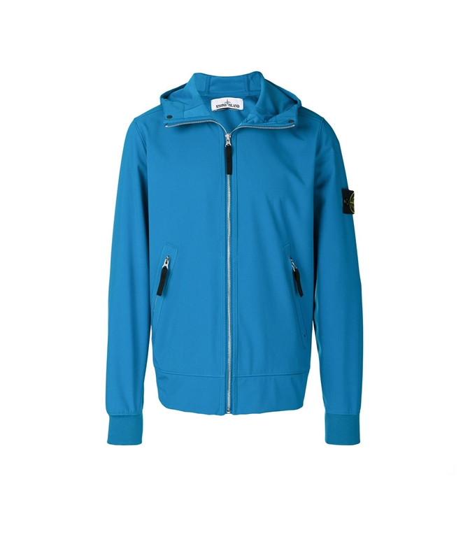 Stone Island - Giubbotti - LIGHT SOFT SHELL-R OTTANIO