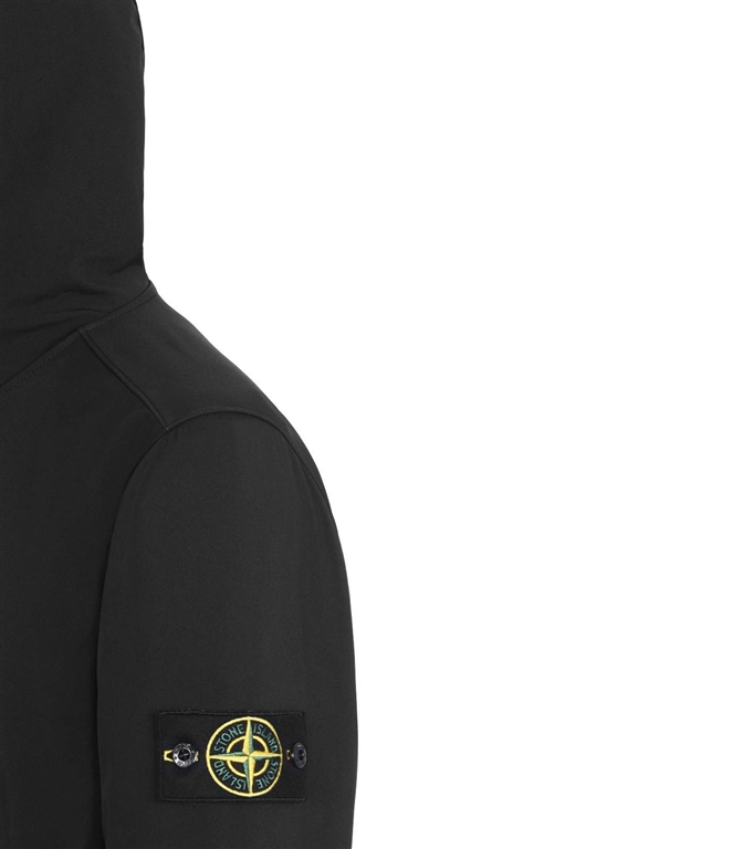 Stone Island - Giubbotti - light soft shell-r nero 1