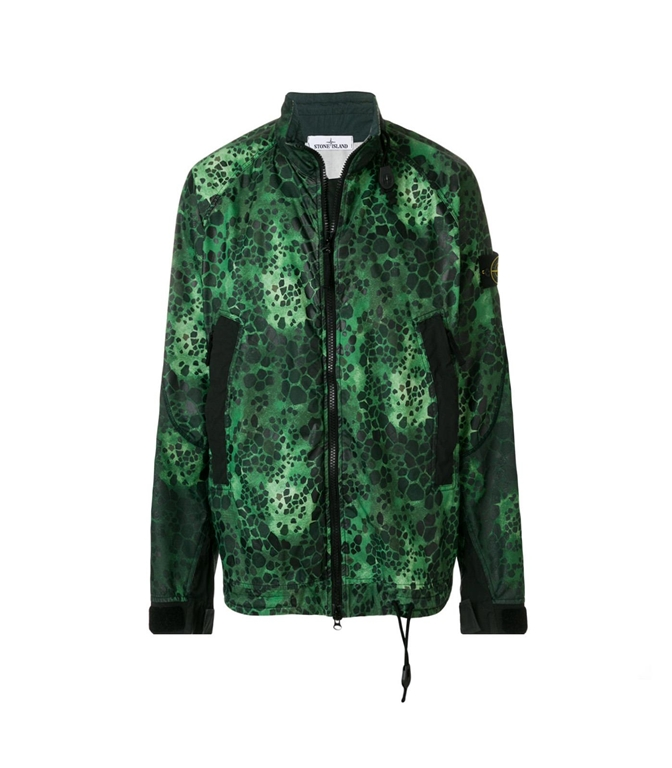 Stone Island - Giubbotti - alligator camo light cotton/nylon rep
