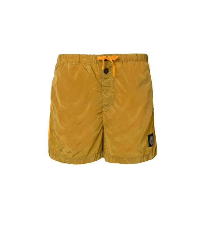 Stone Island - Costumi - SHORT MARE NYLON METAL GIALLO
