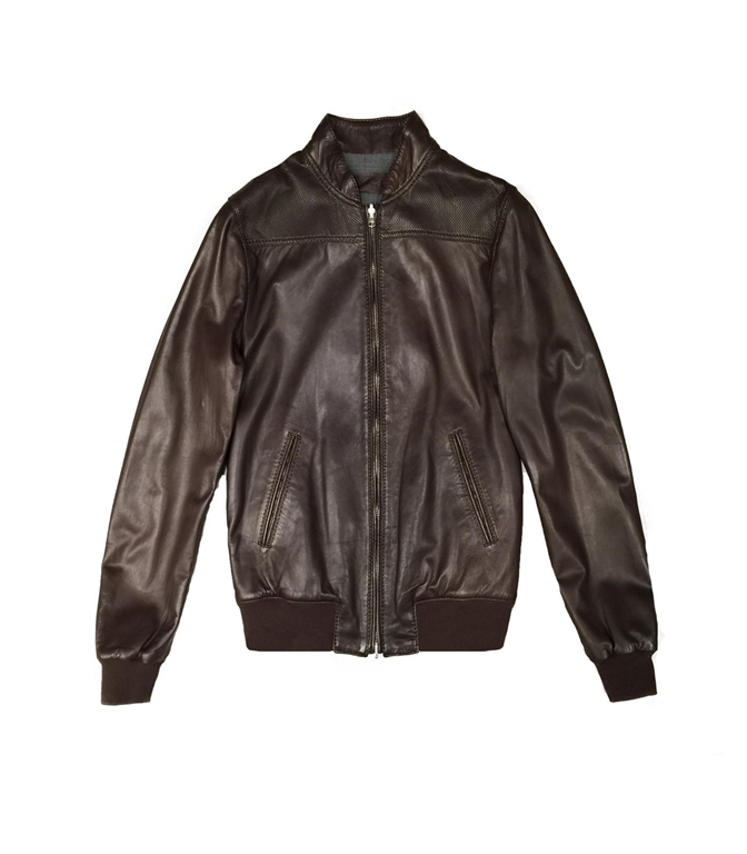 The Jack Leathers - Giubbotti - FRESCO LEATHER REVERSIBLE JACKET MARRONE