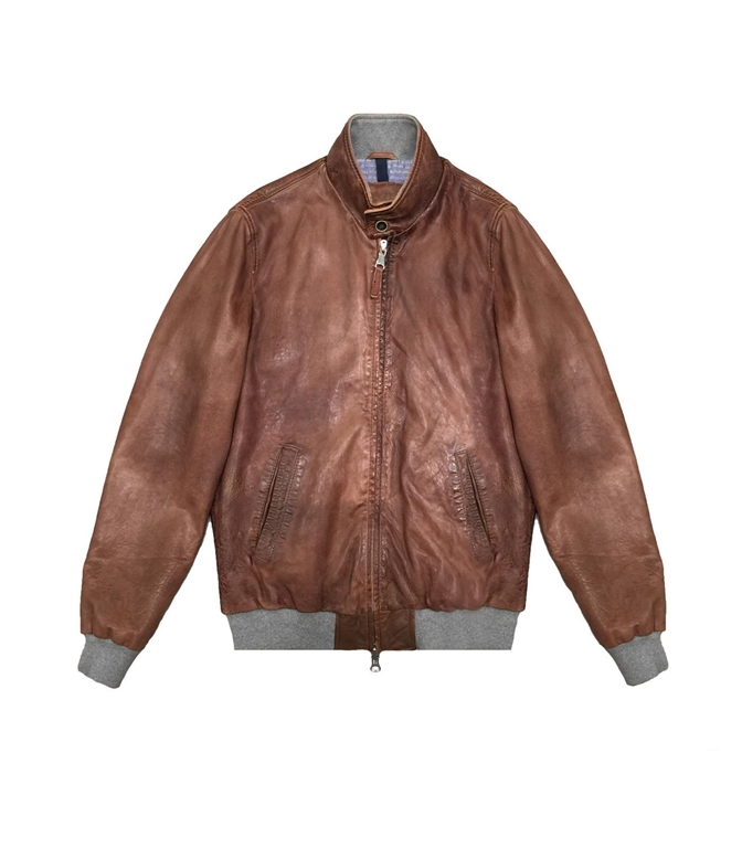 The Jack Leathers - Giubbotti - ru44 leather jacket cuoio