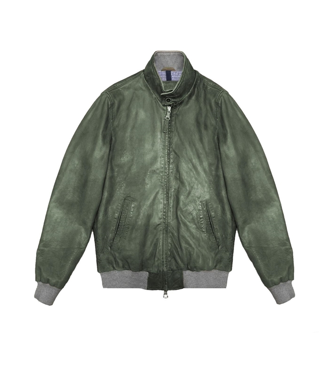 The Jack Leathers - Giubbotti - RU44 LEATHER JACKET VERDE