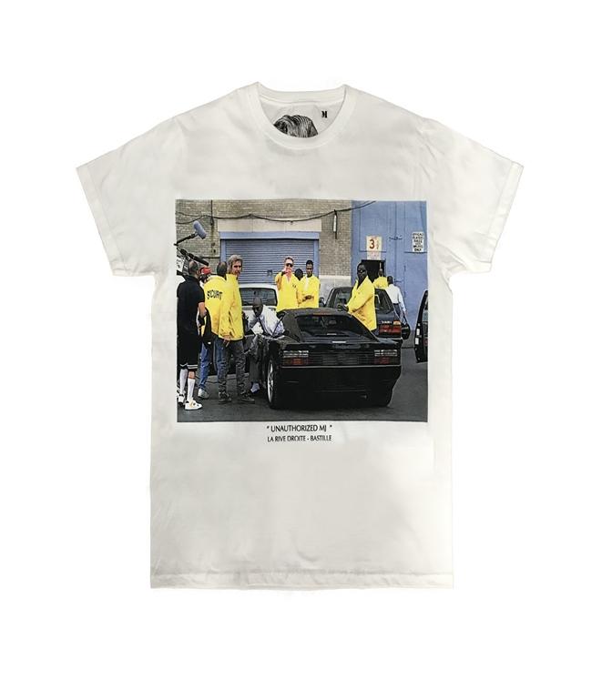 Bastille - T-Shirt - T-SHIRT CON STAMPA UNAUTORIZHED MJ BIANCA