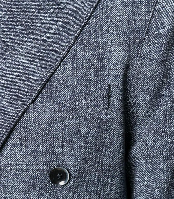 Circolo 1901 - Outlet - giacca doppiopetto piquet drill blu 1