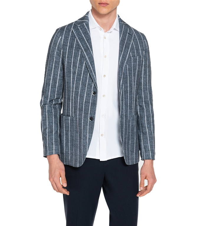 Circolo 1901 - Giacche - giacca 2 bottoni in piquet blu