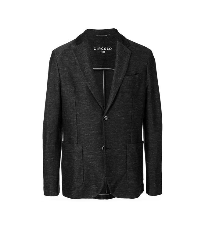 Circolo 1901 - Saldi - giacca 2 bottoni in lino-cotone nero