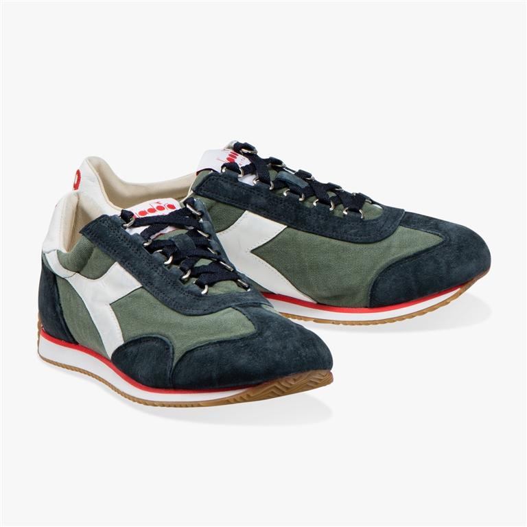 Diadora Heritage - Scarpe - Sneakers - equipe h canvas stone wash verde timo 1