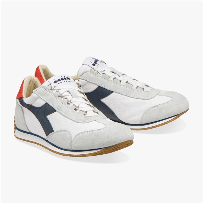 Diadora Heritage - Scarpe - Sneakers - equipe h canvas stone wash bianco/blu profondo 1